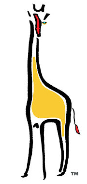 This is the WalkingTall logo a yellow giraf